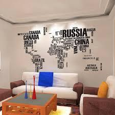 Removable World Map Words Mural Vinyl Wall Decals Sticker Living Room Decor Art 745950347156 Ebay