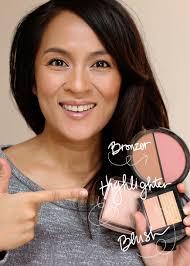 bronzer blush and highlighter