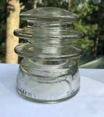 vintage clear glass insulators