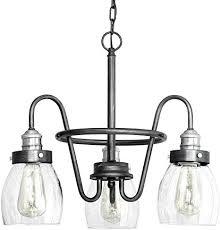 3 light rustic pewter chandelier