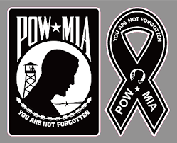 Set Of 2 Pow Mia Premium Vinyl Decal Bumper Stickers Military Army Marines Usa Ebay