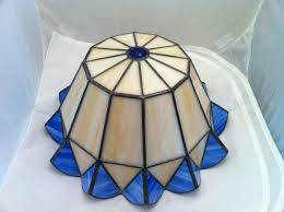stained glass ceiling fan details