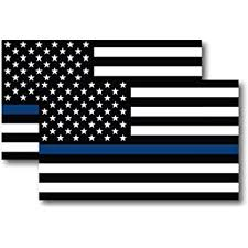 Amazon Com Thin Blue Line American Flag Heart 5 Car Magnet Decal Heavy Duty For Car Truck Suv In Support Of Police And Law Enforcement Officers Automotive