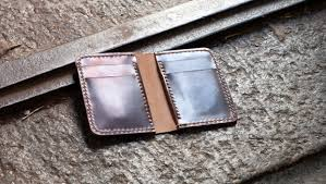 leather vertical wallet template