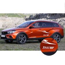 Car Stickers For Lada Xray Car Side Body Decal Sticker Hatchback Sedan Suv Diy Decoration Decals Car Accessories Auto Part 1 8m Buy At The Price Of 14 04 In Aliexpress Com Imall Com
