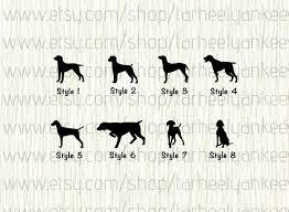Weimaraner Decal Weimaraner Car Decal Vizsla Decal German Shorthair Pointer Decal Gsp Car Decal Pointer Car Decal Hunting Dog Car Decal In 2020 Pitbulls Dog Decals Boston Terrier Puppy