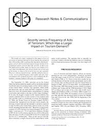 PDF) Severity versus Frequency of Acts of Terrorism: Which Has a Larger  Impact on Tourism Demand | 书铭 曹 - Academia.edu