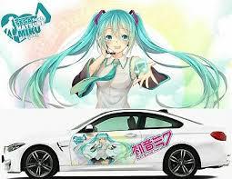 Hatsune Miku Anime Girl Car Hood Decal Vinyl Sticker Auto Full Color Fit Any Car Rainbowlands Lk