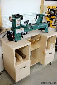 diy mobile wood lathe stand spruc d