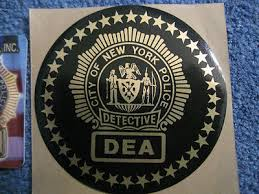 Nypd Dea Window Sticker Black Antique Price Guide Details Page