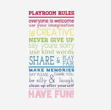 Playroom Rules Wall Decal Playroom Wall Decal Kids Wall Decal Children S Wall Decal Playroom Rules Wall Sticker Kids Play Decals