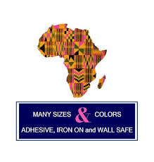 Africa Decal Sticker Or Iron On Kente And Wax Print Etsy