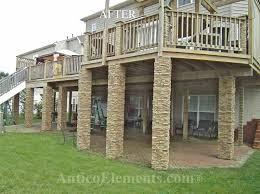 Faux Stone Columns Post Wraps Column Wraps Traditional Exterior Baltimore By Antico Elements