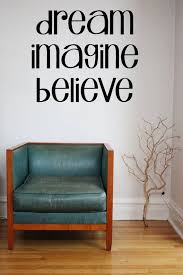 Dream Imagine Believe Vinyl Wall Decal Sticker Wall Art Etsy