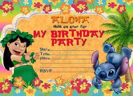 10 Invitaciones De Cumpleanos Para Ninos Lilo Stitch Con 10