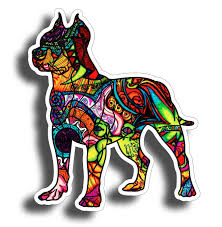 Pitbull Car Sticker Dog Angry Chains Window Auto Decal For Sale Online Ebay