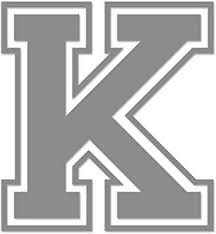 Amazon Com Applicable Pun Varsity Letter K Vinyl Decal Outdoor Use On Cars Atv Boats Windows More Middle Grey 11 Inches Tall Automotive