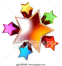 Stock Illustration - Top view of shining stars in the motion ...