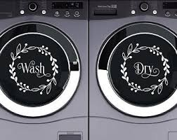 Wash And Dry Decal Etsy
