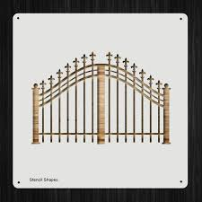 Wrought Iron Gate Fence Heaven Gate Plastic Mylar Stencil For Painting Walls And Crafts Item 592098 Amazon Ca Home Kitchen