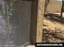 Snake Fence And Arizona Rattlesnake Prevention Fencing Installation Rattlesnake Solutions Llc Rattlesnake Fence Snake