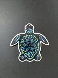 Sea Turtle Doodle Vinyl Sticker Decal For Car Laptop Water Etsy