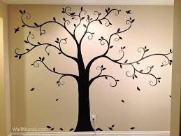 tree drawing on wall at paintingvalley