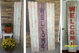 Super Easy Welcome Sign Mama Needs A Project