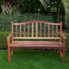 4 ft wood garden bench with curved