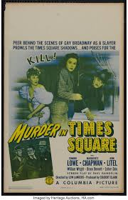 "Murder in Times Square (Columbia, 1943). Window Card (14"" X 22 ..."