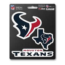 Team Promark Houston Texans 3 Pack Decal Set In The Exterior Car Accessories Department At Lowes Com