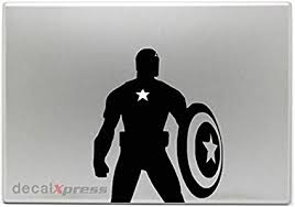 Amazon Com Captain America Full Body Decal Sticker For Macbook Air Pro All Models Home Audio Theater