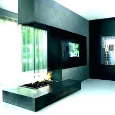 double sided outdoor fireplace indoor