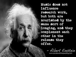 music does not influence research work but both are nourished by