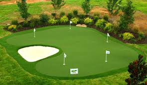 synthetic backyard golf putting greens