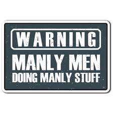 Warning Manly Men 3 Pack Of Vinyl Decal Stickers 3 3 X 5 For Laptop Car Walmart Com Walmart Com