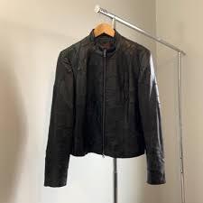 uni danier reconstructed leather jacket