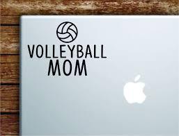 Volleyball Mom Laptop Wall Decal Sticker Vinyl Art Quote Macbook Apple Boop Decals