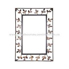 china mirror square metal wall decor