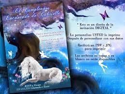 Unicornio Invitaciones Fantasia Invitaciones Invitaciones Magicas I Bustani Design