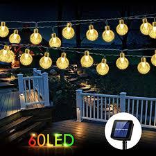 wdtpro solar string lights outdoor