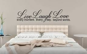 Live Every Moment Laugh Every Day Love Beyond Words Wall Vinyl Decal Sticker Live Laugh Love B Vinyl Wall Decals Bedroom Decor Vinyl Wall