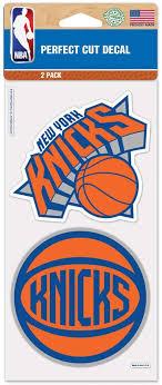 Amazon Com Nba New York Knicks Perfect Cut Decal 4 X 8 Inch Multi Sports Outdoors