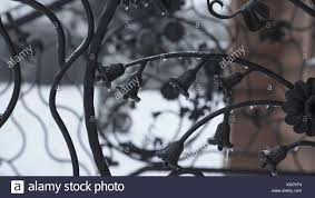 Art Forging Elements And Iron Fence Rough Metal Curly Decorative Stock Photo Alamy