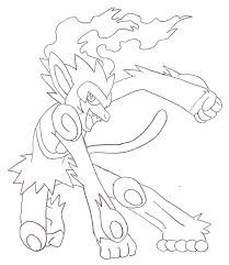 Infernape Coloring Pages