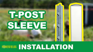 T Post Sleeve Installation A Safe Fence Tutorial Youtube