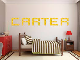 Lego Custom Name Customized Wall Decal Home Decor Room Kids Personalized Mural Ebay