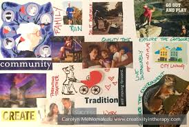 Family Values Collage - Creativity in Therapy