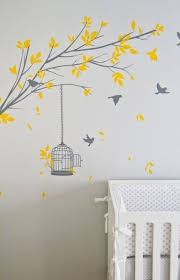 Tree Stencil For Wall Contemporary Nursery Turquoise La Baby Nursery Murals Nursery Mural Tree Stencil For Wall