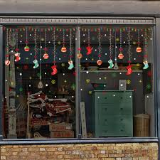 Christmas Decoration Pvc Window Clings Decals Stickers Wall Ornaments Home Office New Year Christmas Party Supplies C Walmart Com Walmart Com
